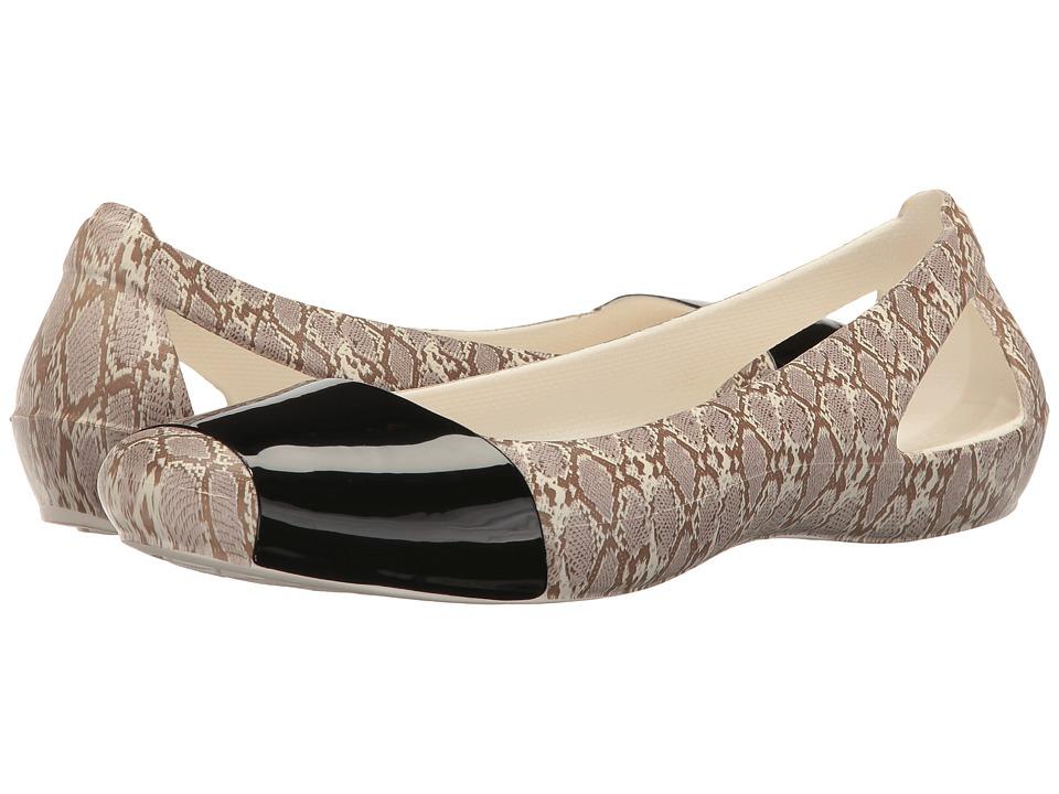Crocs Sienna Shiny Animal Print (Snake) Women