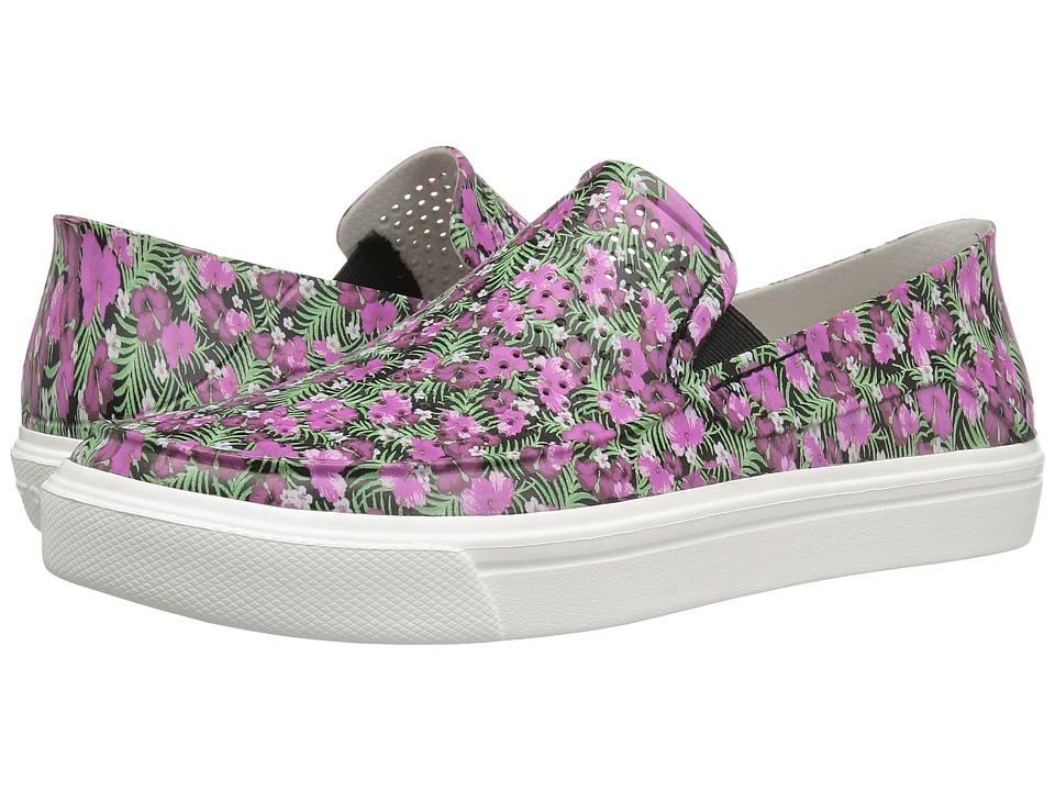 Crocs CitiLane Roka Graphic Slip-On (Black/Floral) Women