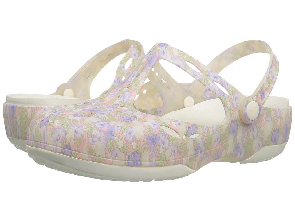 Crocs Carlie Graphic Cut Out (Light Pink/Floral) Women
