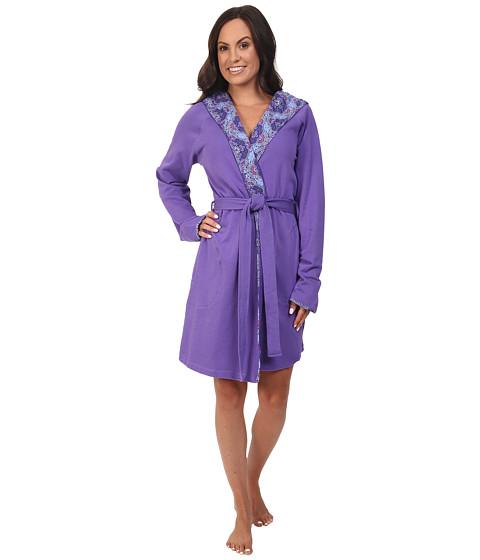 Vera Bradley Knit Robe - Purple/Lilac Tapestry