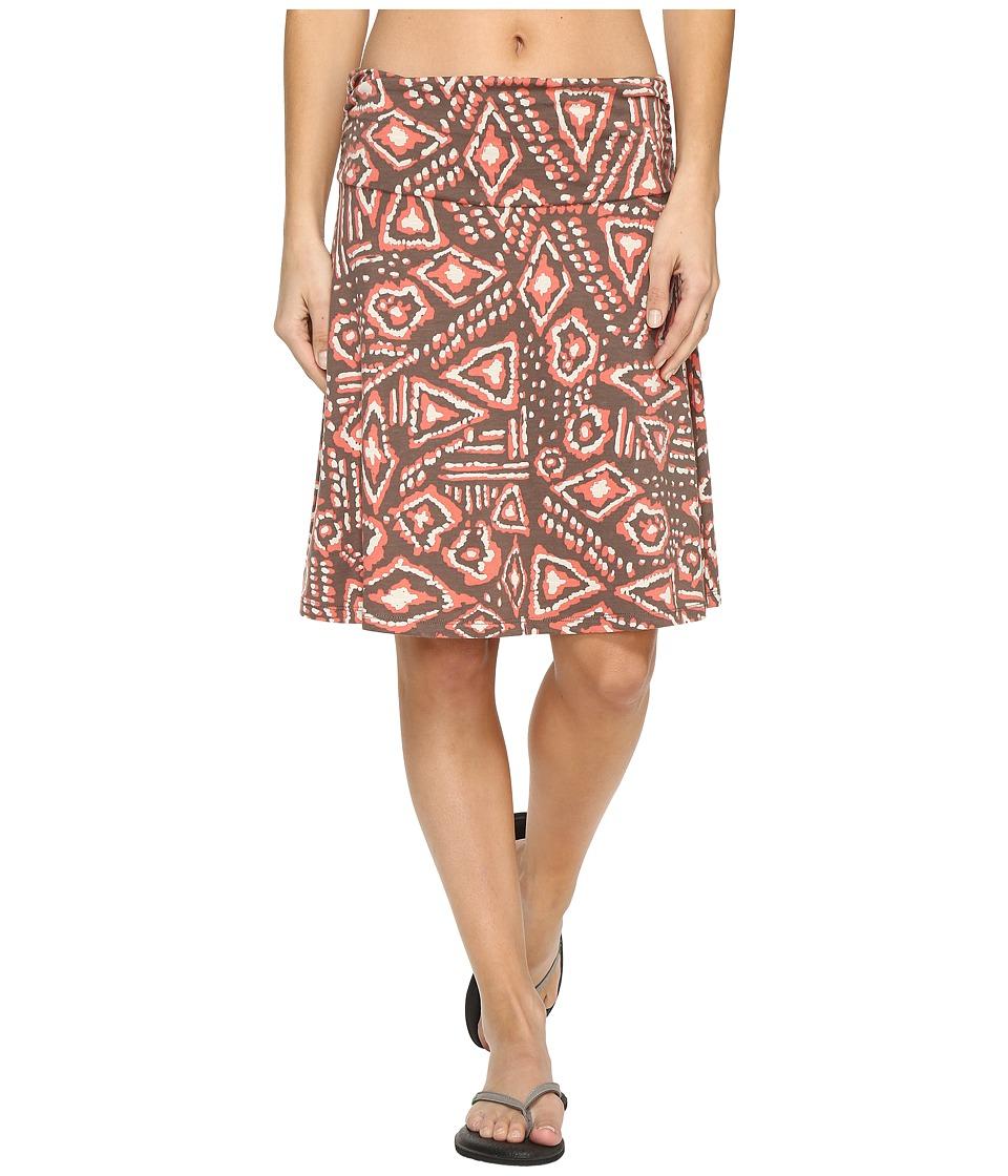 Toad&Co Chaka Skirt (Falcon Brown Brush Print) Women