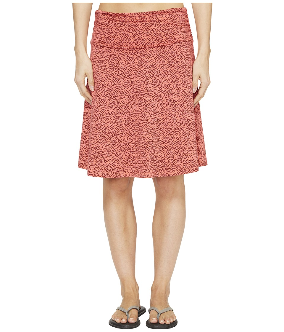 Toad&Co Chaka Skirt (Spiced Coral Geo Print) Women