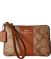 COACH - Signature PVC w/ Leather Corner Zip