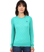 U.S. POLO ASSN. - Polka Dot Crew Neck Sweater