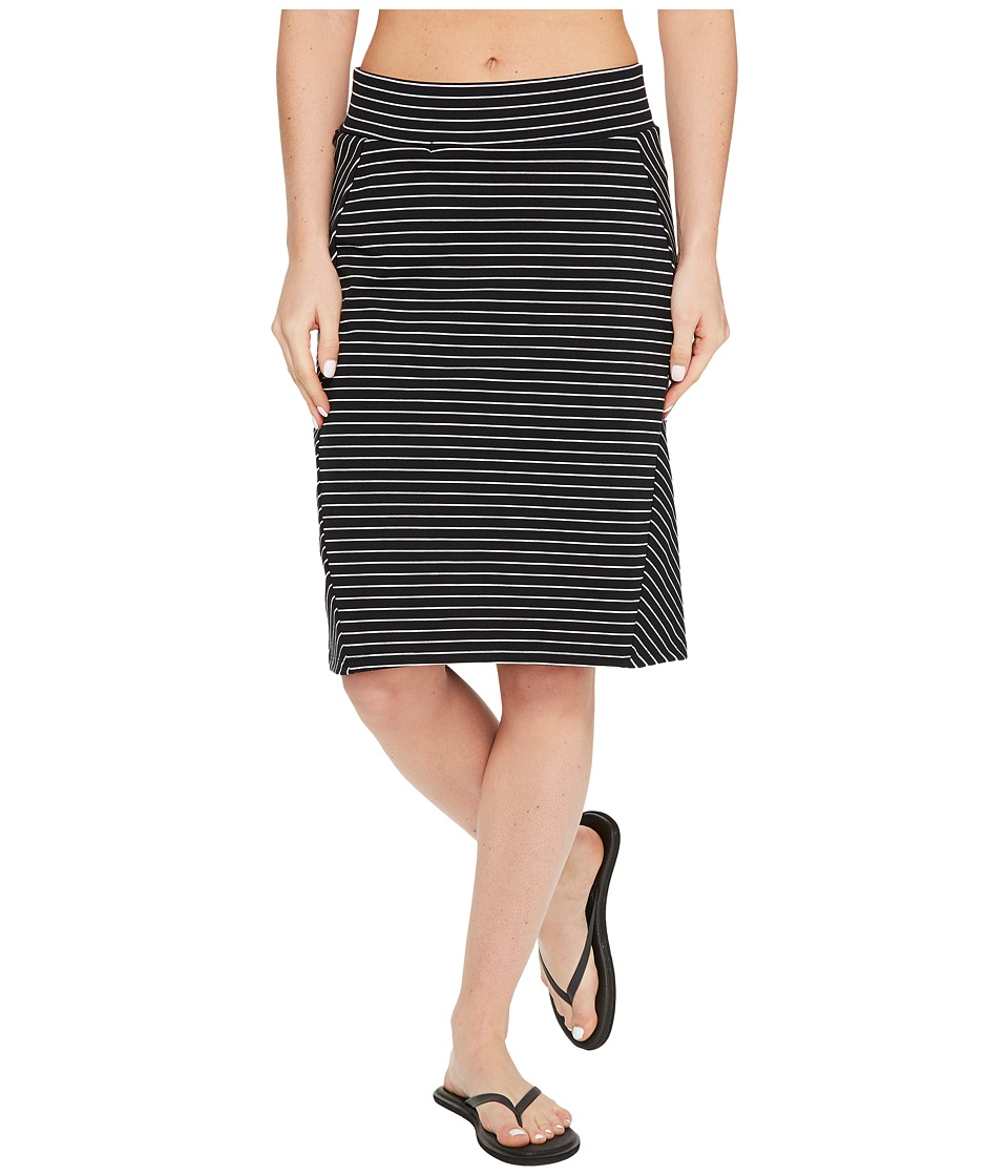 Toad&Co Transita Skirt (Black Thin Stripe) Women
