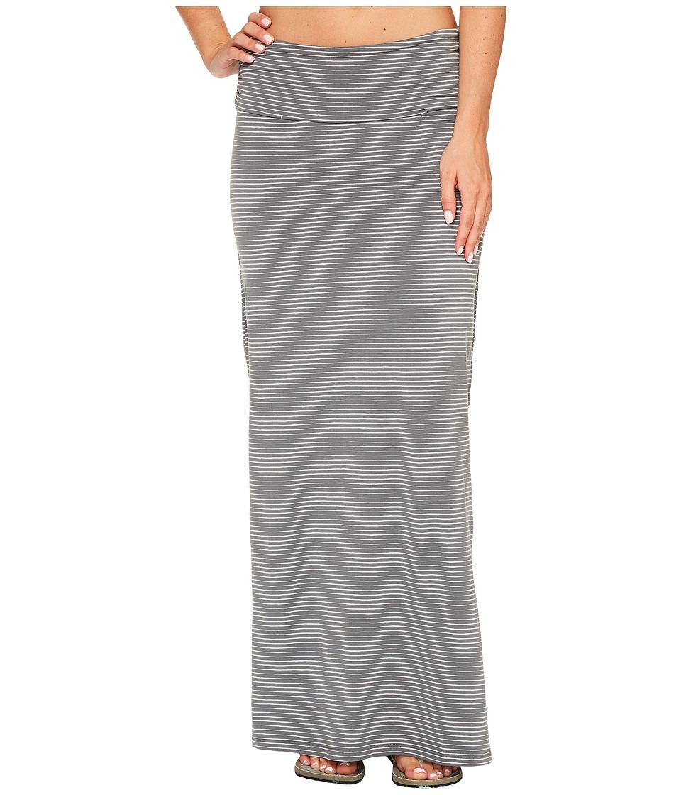 Toad&Co Montauket Long Skirt (Smoke Lean Stripe) Women