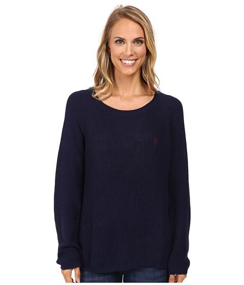 U.S. POLO ASSN. V-Inset Raglan Sleeve Sweater