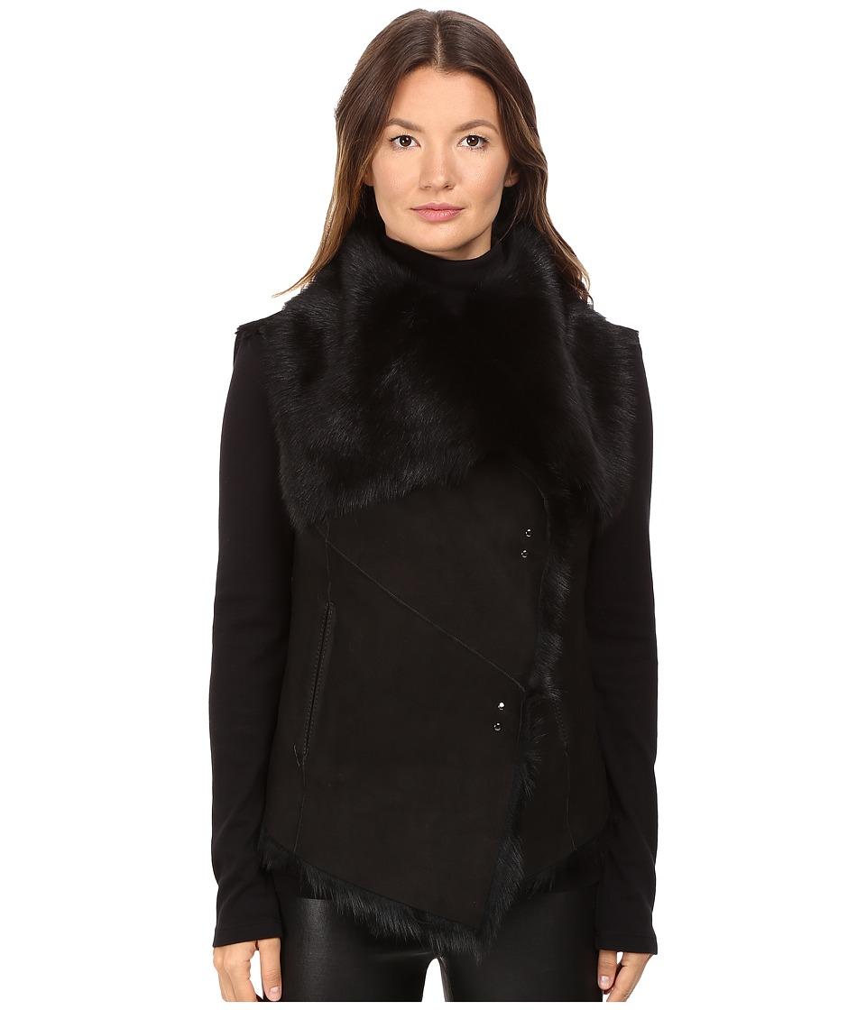LAMARQUE Nina Toscana Shearling Vest (Black) Women