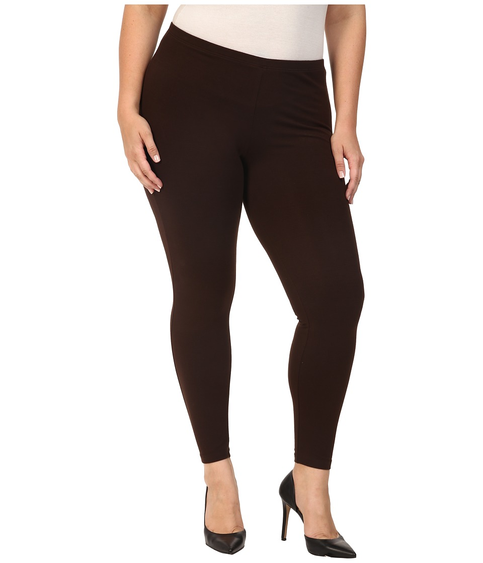 HUE - Plus Size Cotton Legging (Espresso) Women's Casual Pants plus size,  plus size fashion plus size appare