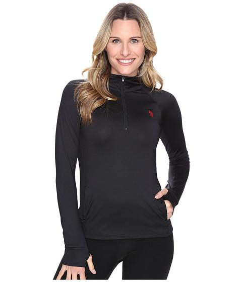 U.S. POLO ASSN. Poly/Spandex Long Sleeve 1/4 Zip Active Knit Top