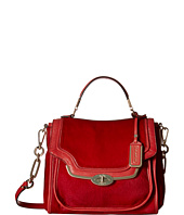 COACH - Madison Mixd Haircalf Small Sadie Flap Satchel