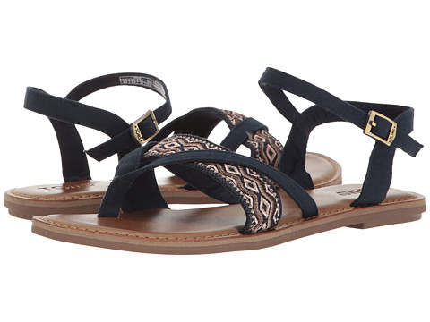 TOMS Lexie Sandal - Navy Canvas/Embroidery
