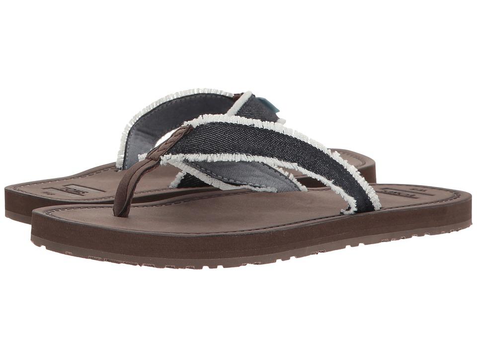 Toms Solana Flip Flop (Navy Frayed Denim) Women's Sandals