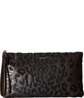 COACH - Madison Sequin Ocelot Zip Clutch
