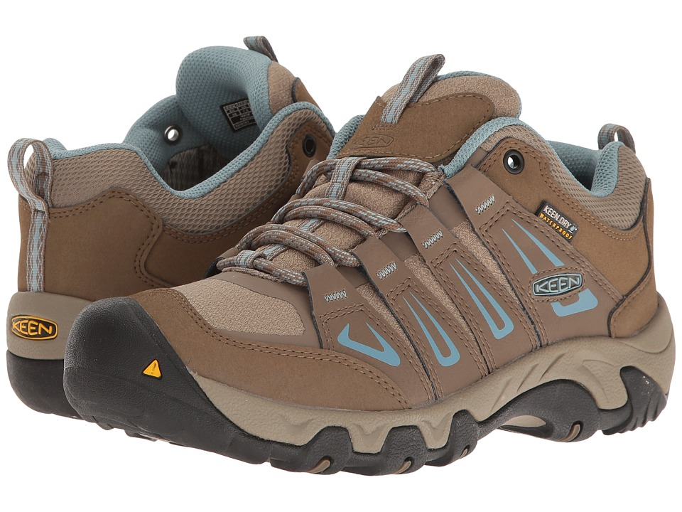 Keen Oakridge Waterproof (Shitake/Stone Blue) Women