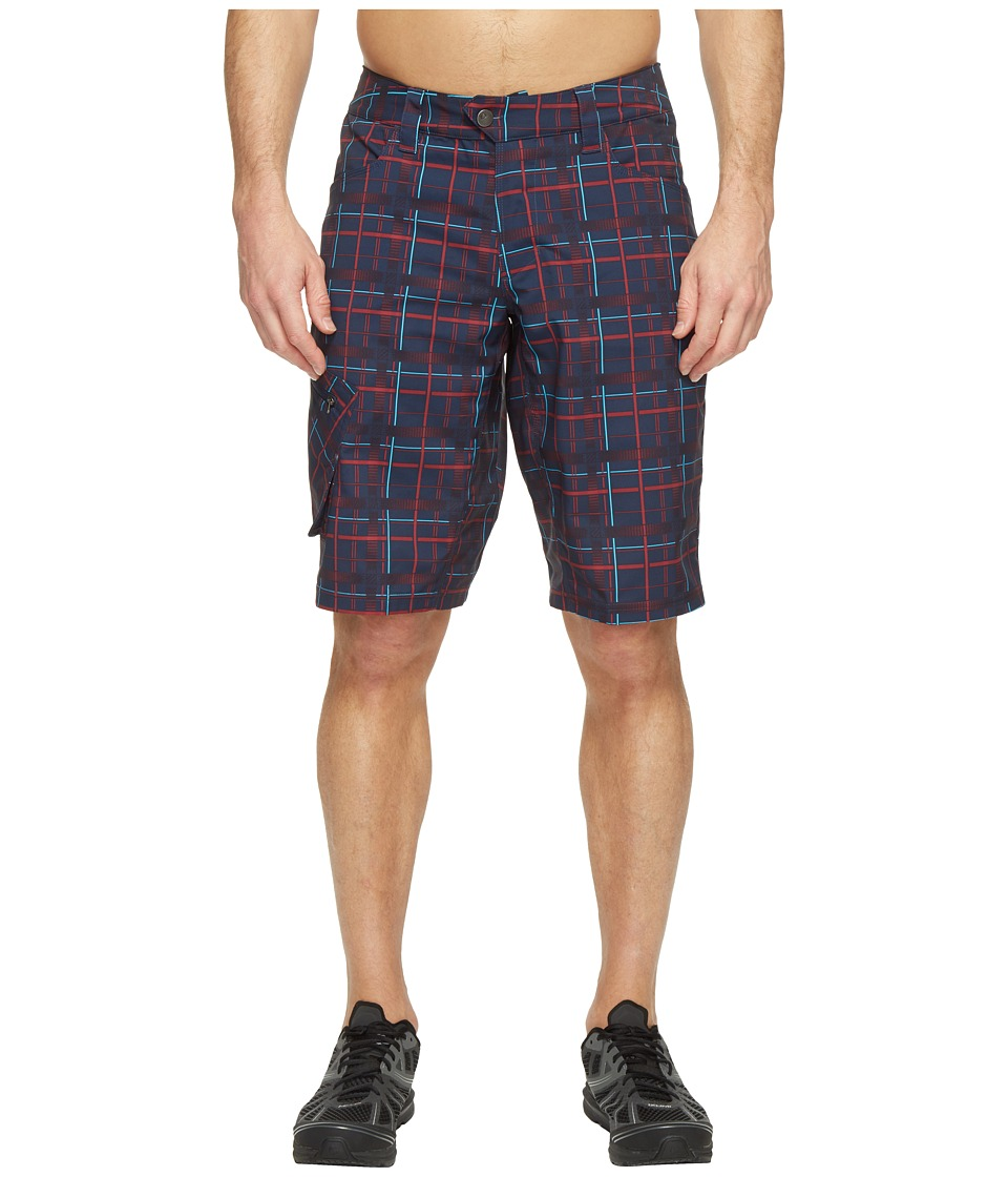 Pearl Izumi Canyon Shorts Plaid (Eclipse Blue Plaid) Men