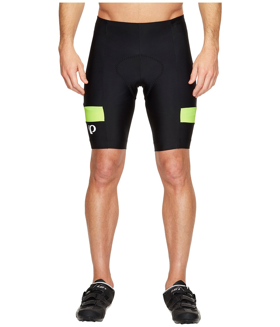 Pearl Izumi Quest Splice Shorts (Black/Screaming Yellow) Men
