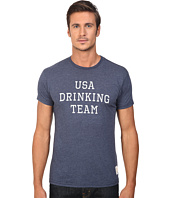 The Original Retro Brand - Short Sleeve USA Drinking Team Heather Tee