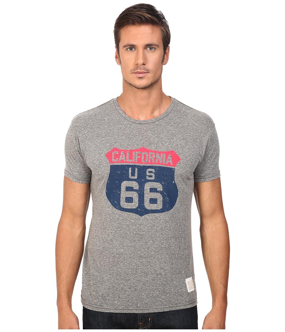 The Original Retro Brand - Short Sleeve Tri-Blend Route 66 Tee