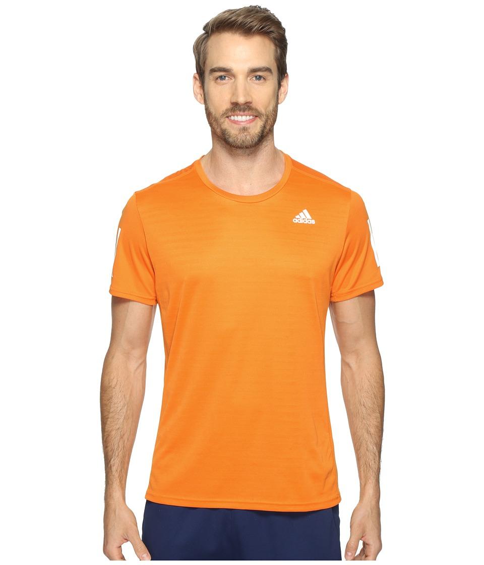 adidas Response Short Sleeve Tee (Bright Orange) Men