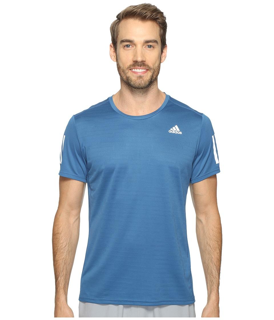 adidas Response Short Sleeve Tee (Core Blue S17) Men