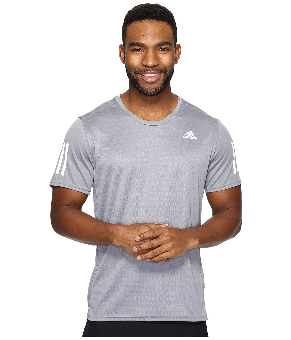 adidas Response Short Sleeve Tee (Grey) Men