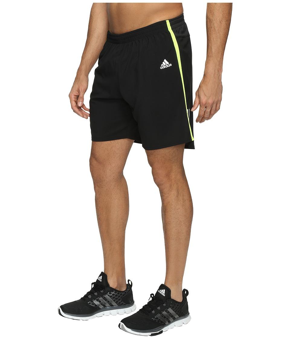 adidas Response 7 Shorts (Black/Solar Yellow) Men