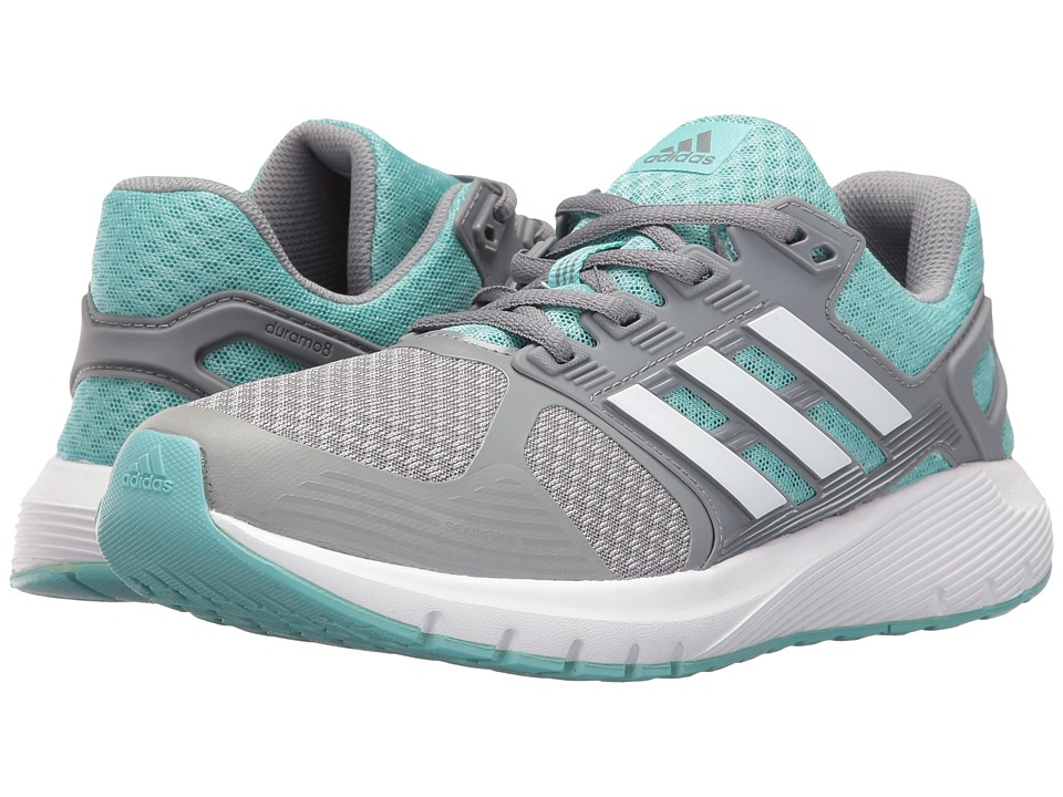 adidas Running Duramo 8 (Mid Grey/Footwear White/Easy Mint) Women