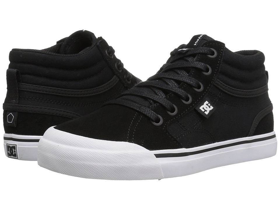DC Kids Evan Hi (Little Kid/Big Kid) (Black/White) Boys Shoes