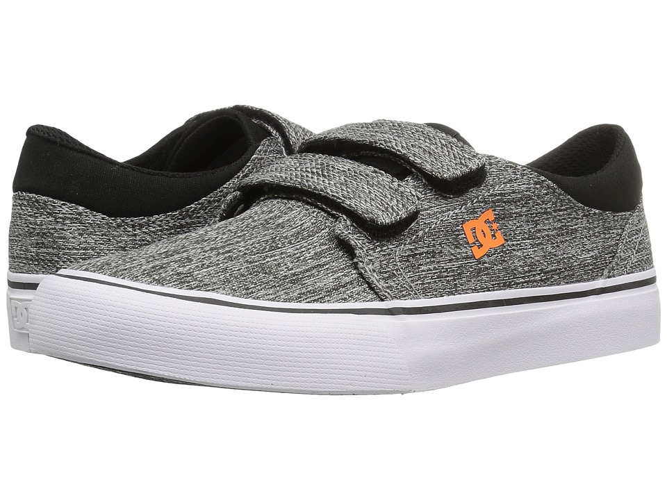 DC Kids Trase V TX SE (Little Kid/Big Kid) (Black/Grey) Boys Shoes