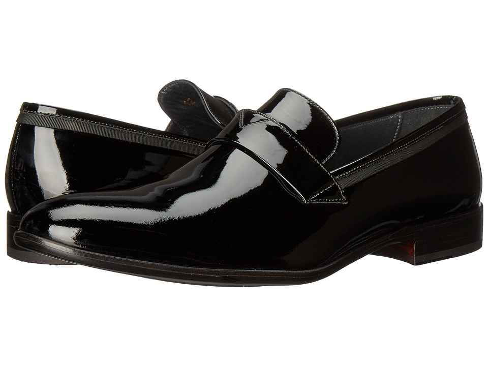 Bruno Magli Carlos (Black Patent/Grossgrain) Men