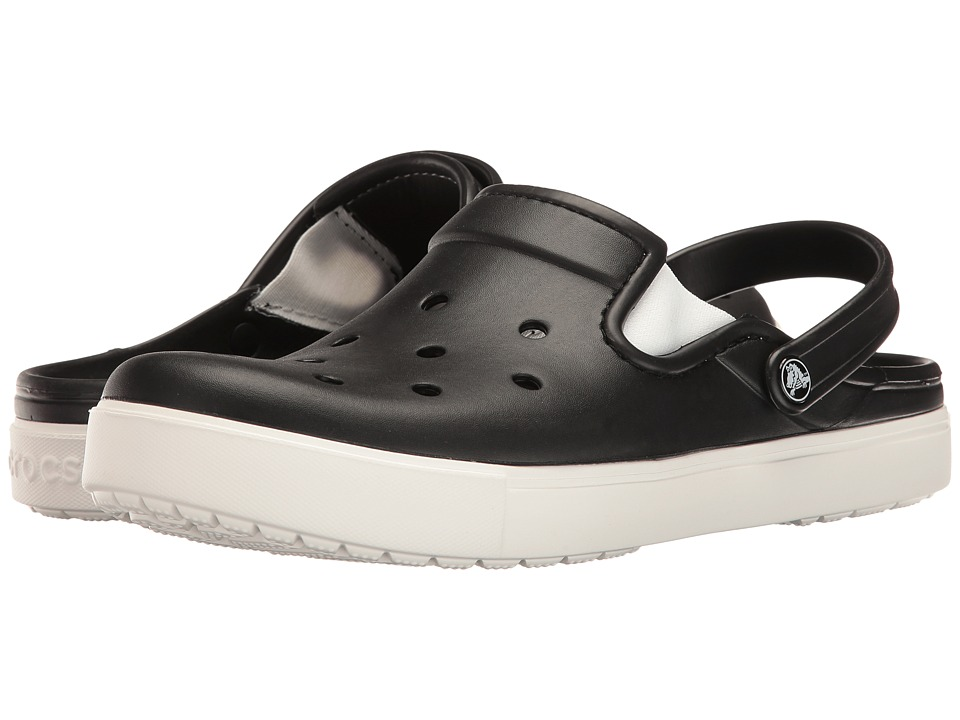 Crocs CitiLane Clog (Black/White) Clog Shoes