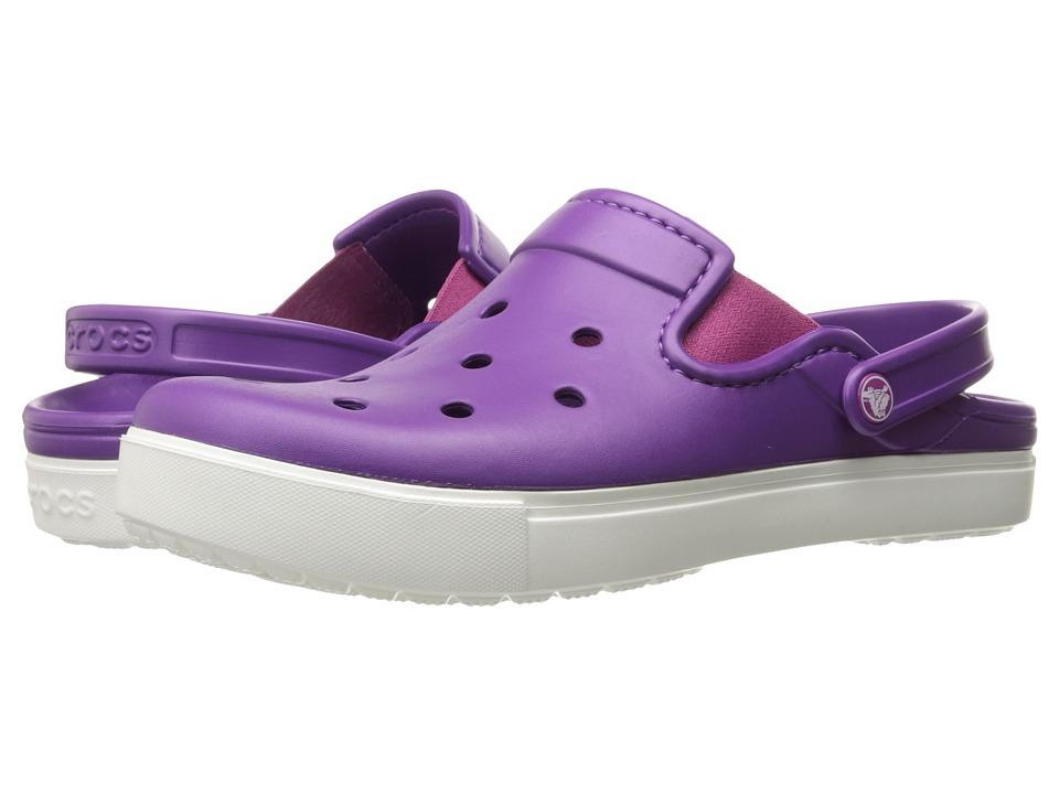 Crocs CitiLane Clog (Amethyst/White) Clog Shoes