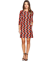 Taylor - Printed Ponte Shift Dress
