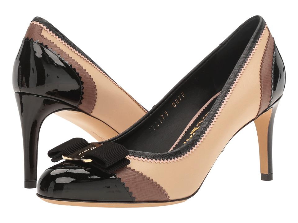 Salvatore Ferragamo Eloisa L. (Nero Patent) High Heels
