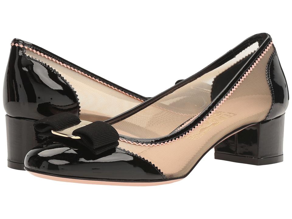 Salvatore Ferragamo Eva Net (Nero Patent) High Heels