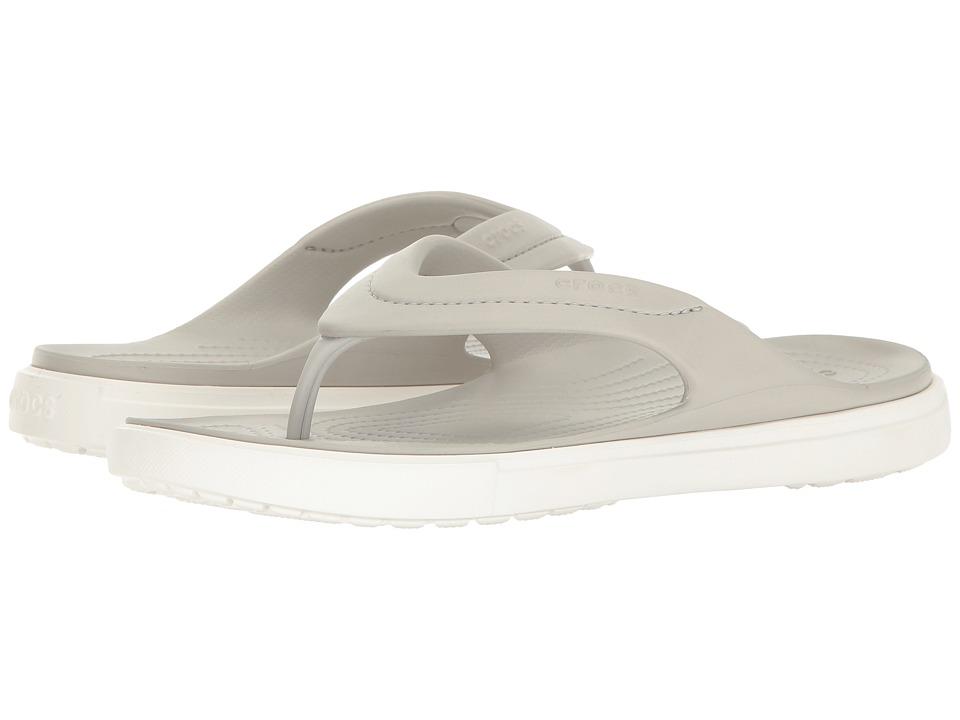 Crocs CitiLane Flip (Pearl White/White) Slide Shoes