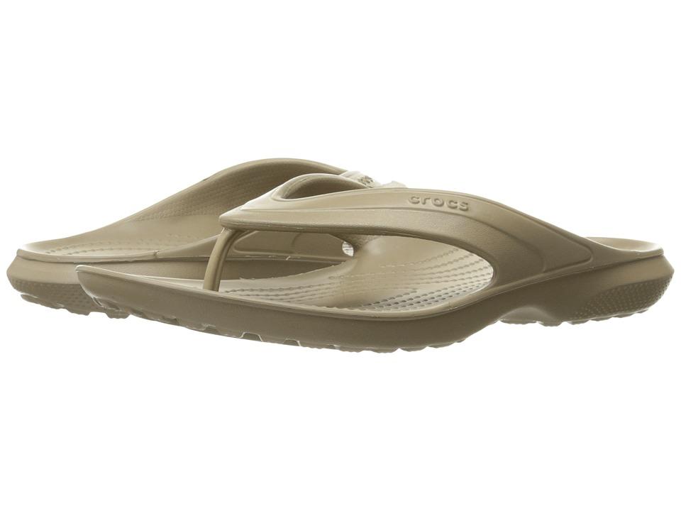 Crocs Classic Flip (Khaki) Slide Shoes