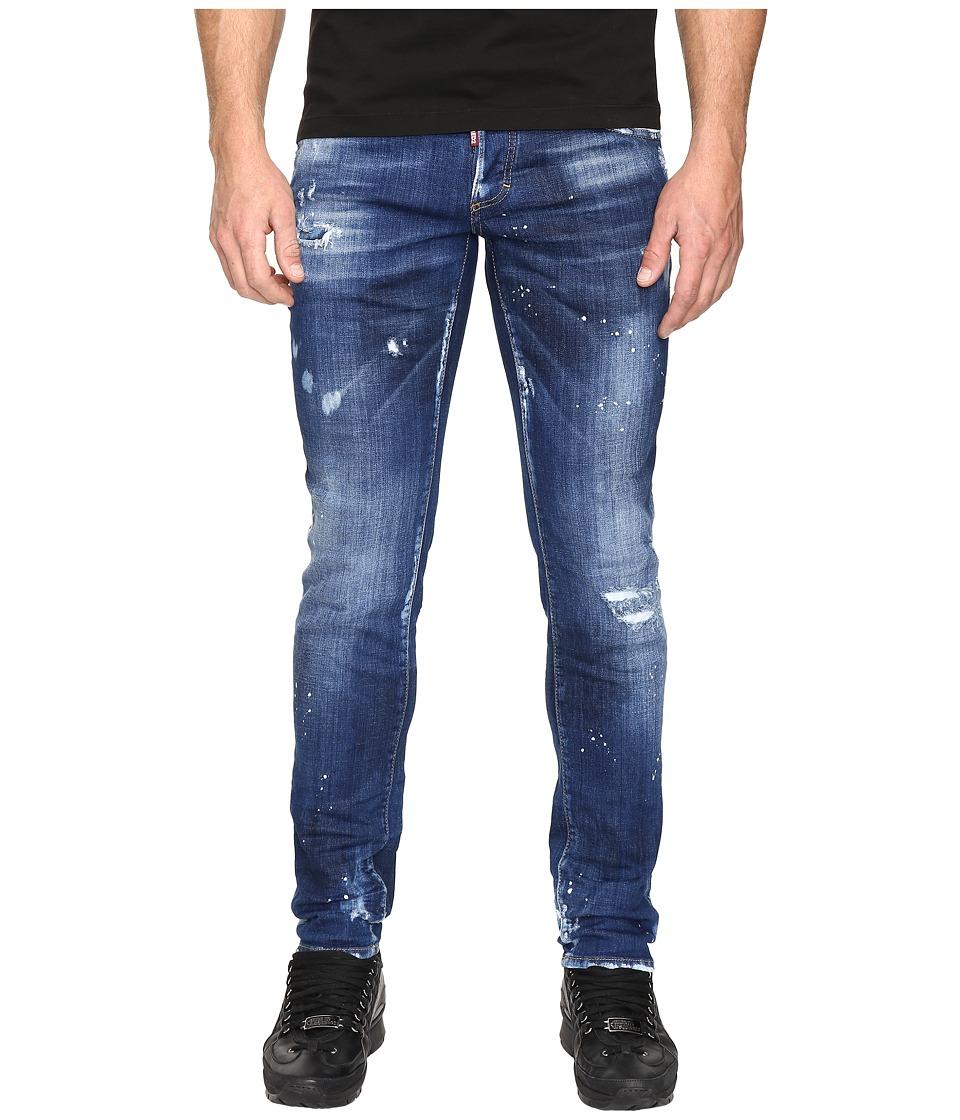 DSQUARED2 - Slim White Hi Light Jeans in Blue