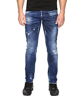 DSQUARED2 - Slim White Hi Light Jeans in Blue