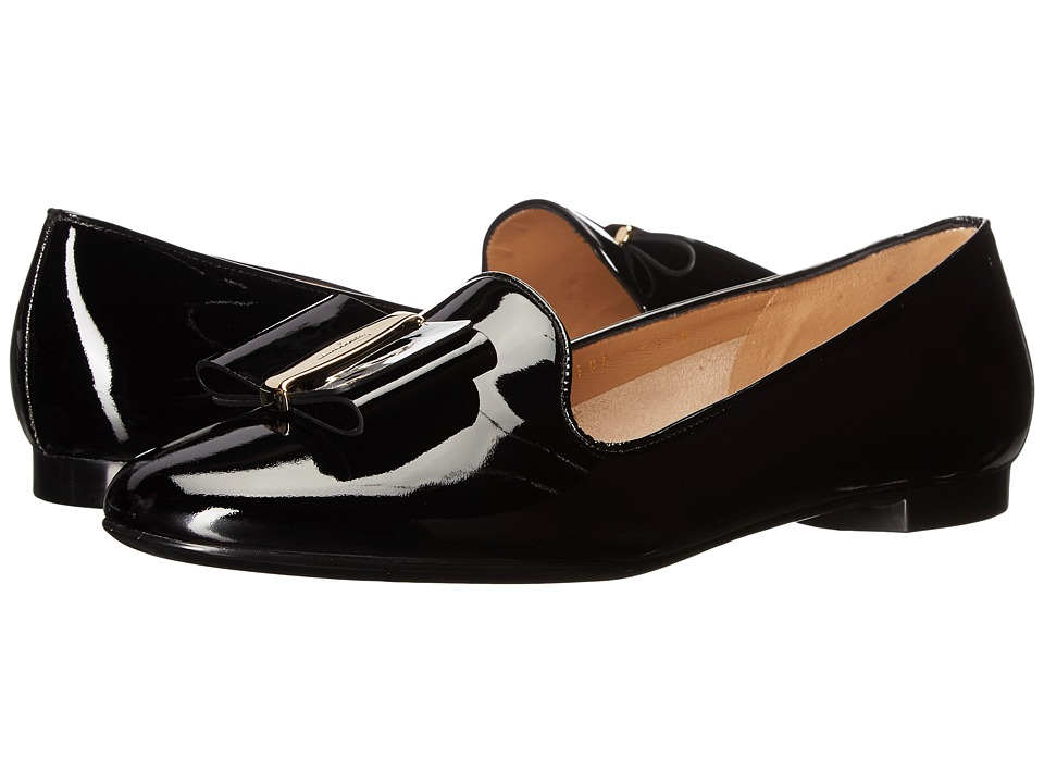 Salvatore Ferragamo Patent Leather Smoking Slipper (Nero Naplak Pesan) Women