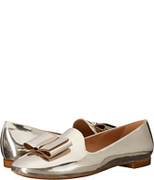 Salvatore Ferragamo - Metallic Calfskin Smoking Slipper