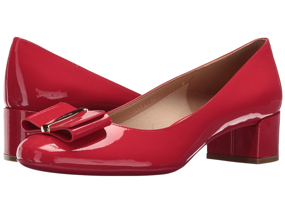 Salvatore Ferragamo Patent Leather Low-Heel Pump (Pamplona Naplak Pesan) High Heels