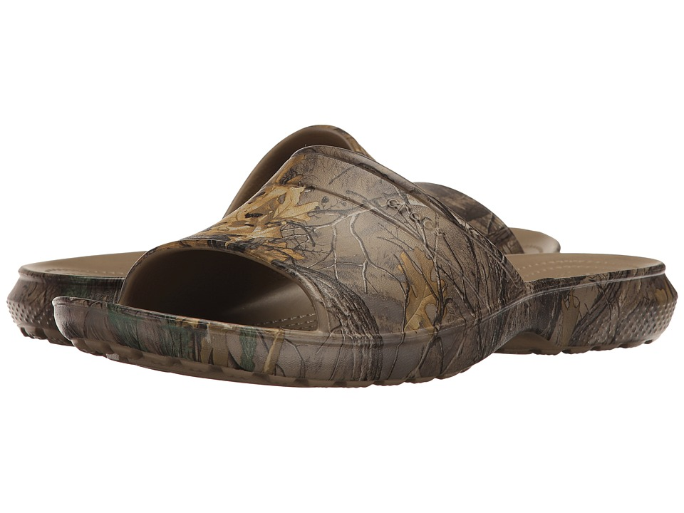 Crocs Classic Realtree Xtra Slide (Khaki) Slide Shoes