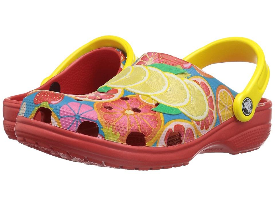 Crocs Classic Fruit II Clog (Flame) Clog/Mule Shoes