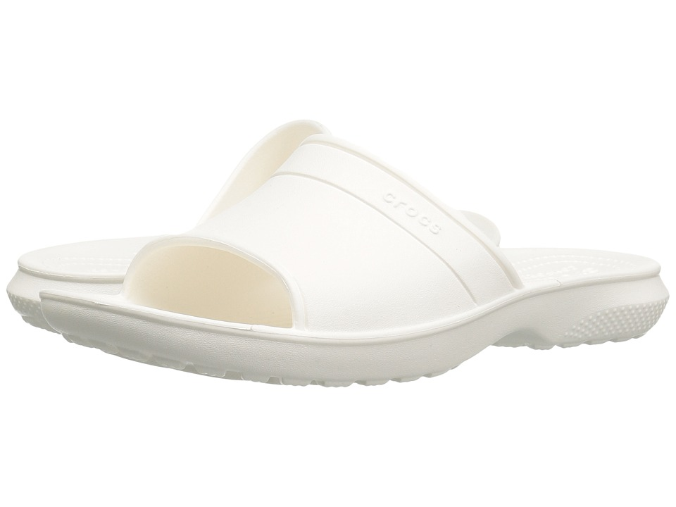 Crocs Classic Slide (White) Slide Shoes