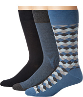 Cole Haan - 3-Pack Diamond Stripe Crew