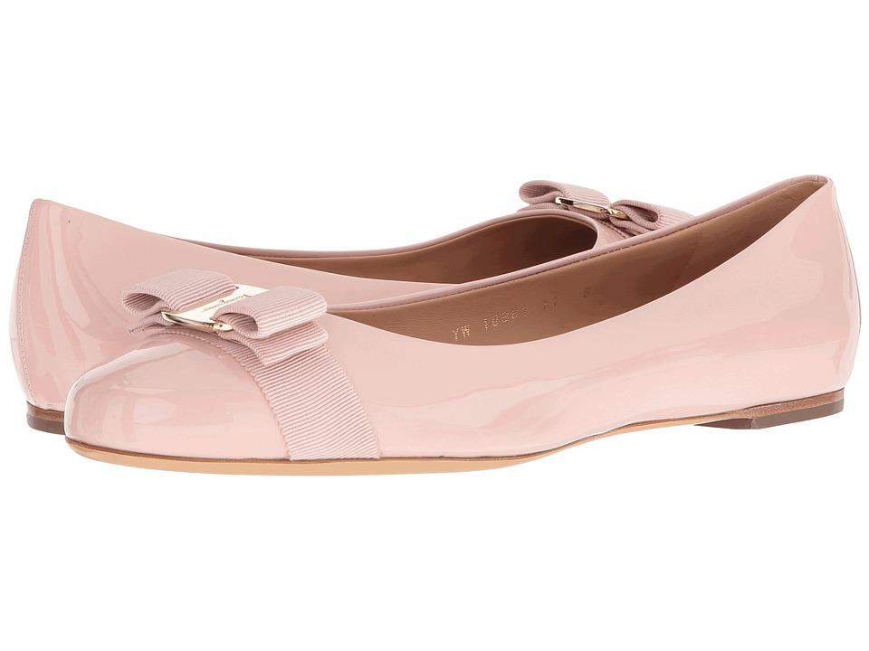 Salvatore Ferragamo Varina (Bon Bon Patent) Slip-On Shoes
