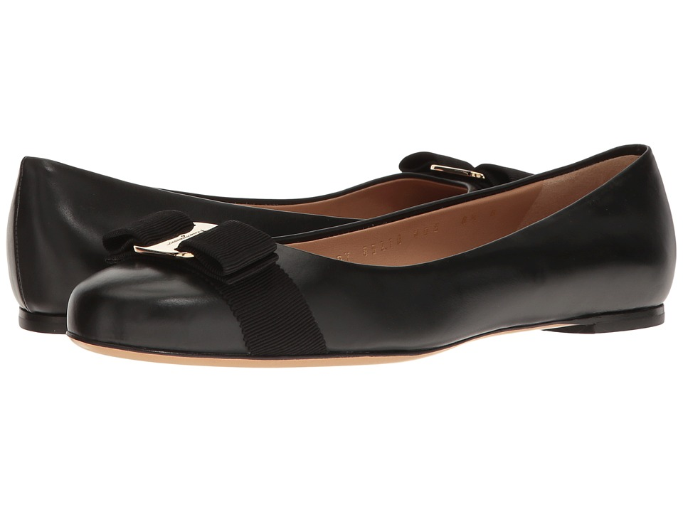 Salvatore Ferragamo Varina (Nero Rubens Calf) Slip-On Shoes