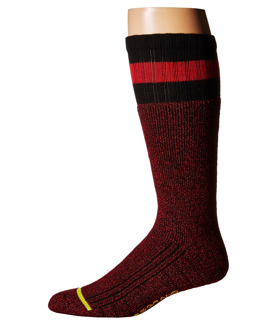 Cole Haan ZeroGrand Boot Sock (Black/True Red) Men